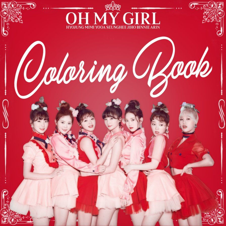 Oh My Girl Coloring Book Album Cover By Leakpalbum My Girl Girls Album Coloring Book Album