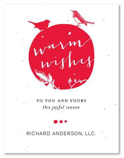 Warm wishes plantable stationery design warm wishes plantable christmas card wordingcompany reheart Image collections