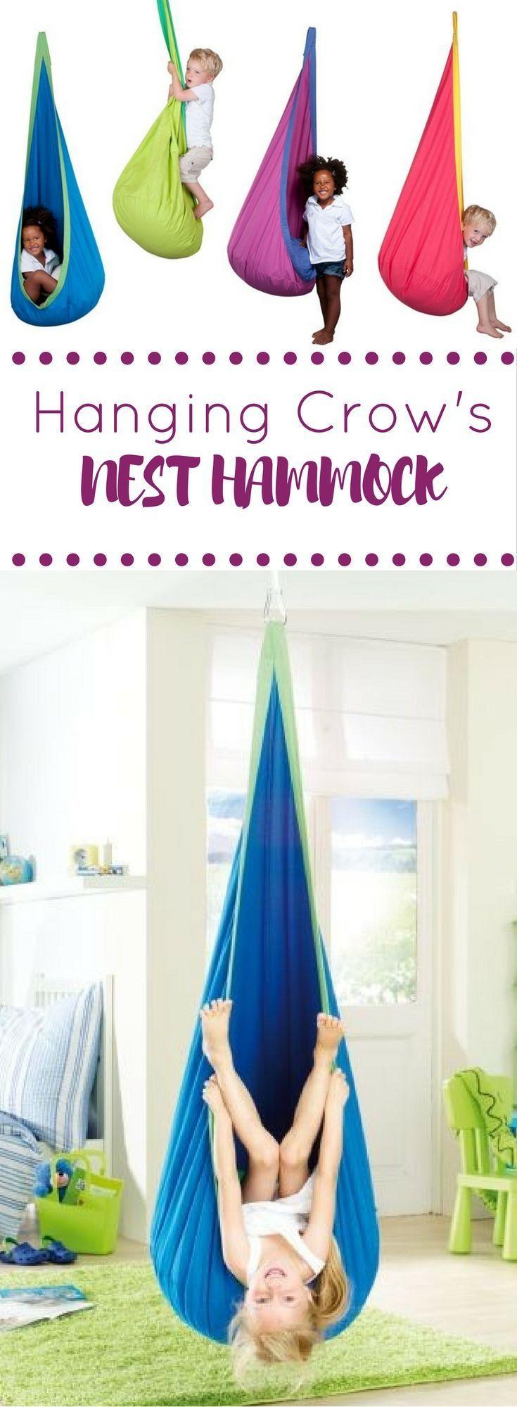 Hanging crowus nest hammock for kids learningtoys for