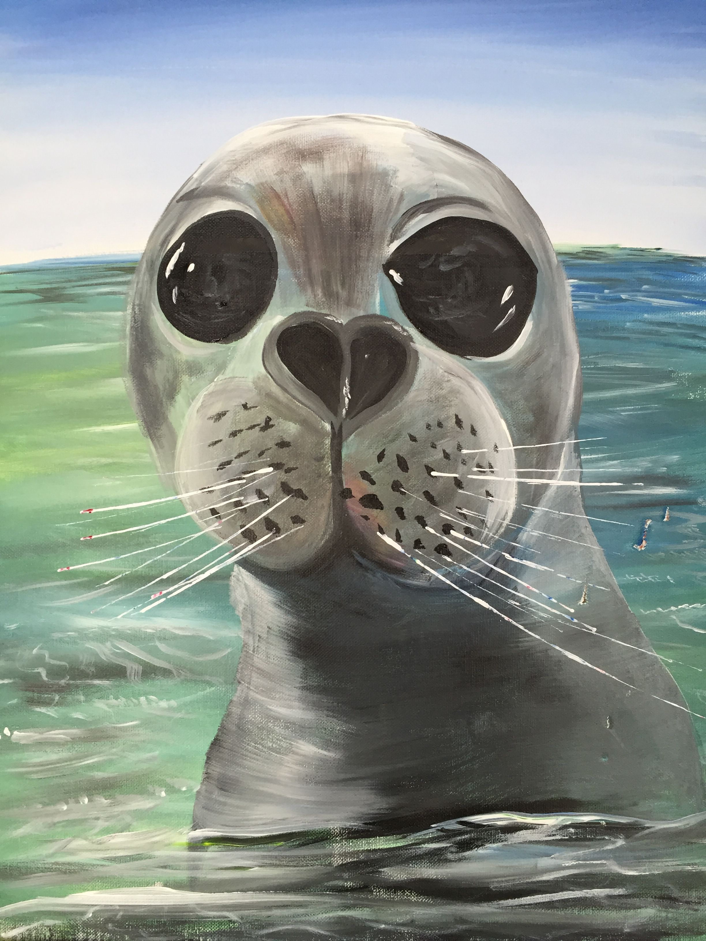 Paint Nite Seal Here Art Painting Sea Life Painting Night