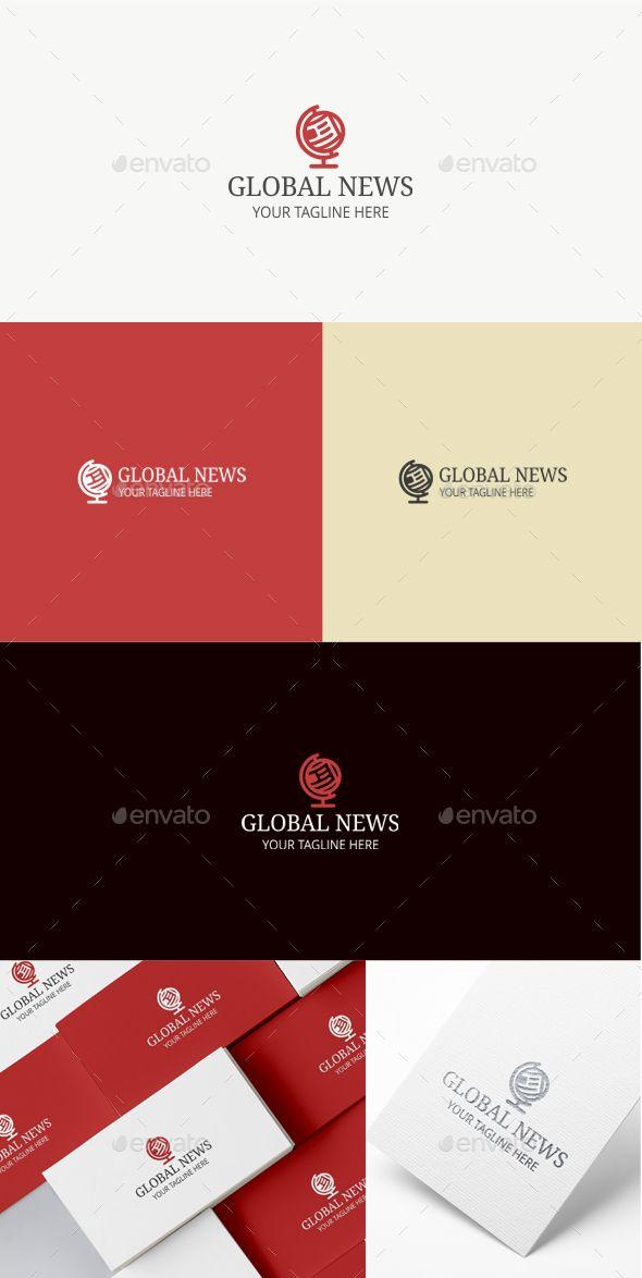 Global news logo template logo template design pinterest global news logo template red news paper download https maxwellsz