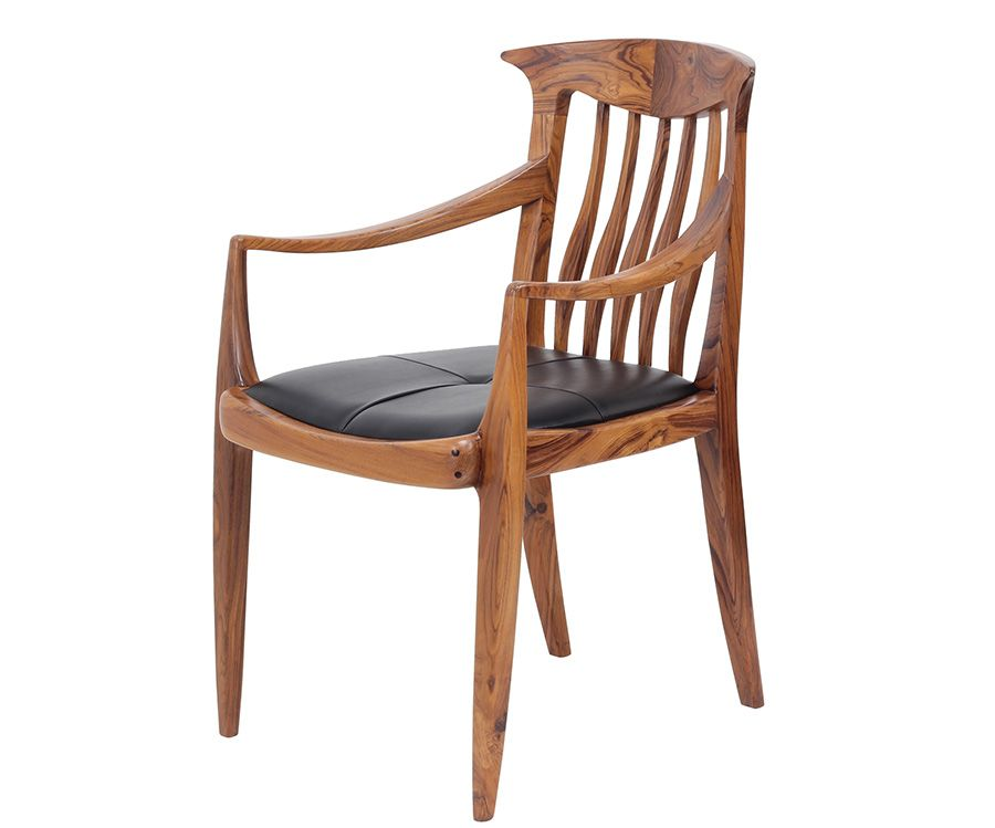 Office Or Dining Chair Made With Teakwood Wooden Furniture