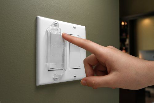 Cool Light Switch Guard For Flat Rocker Switches Clear