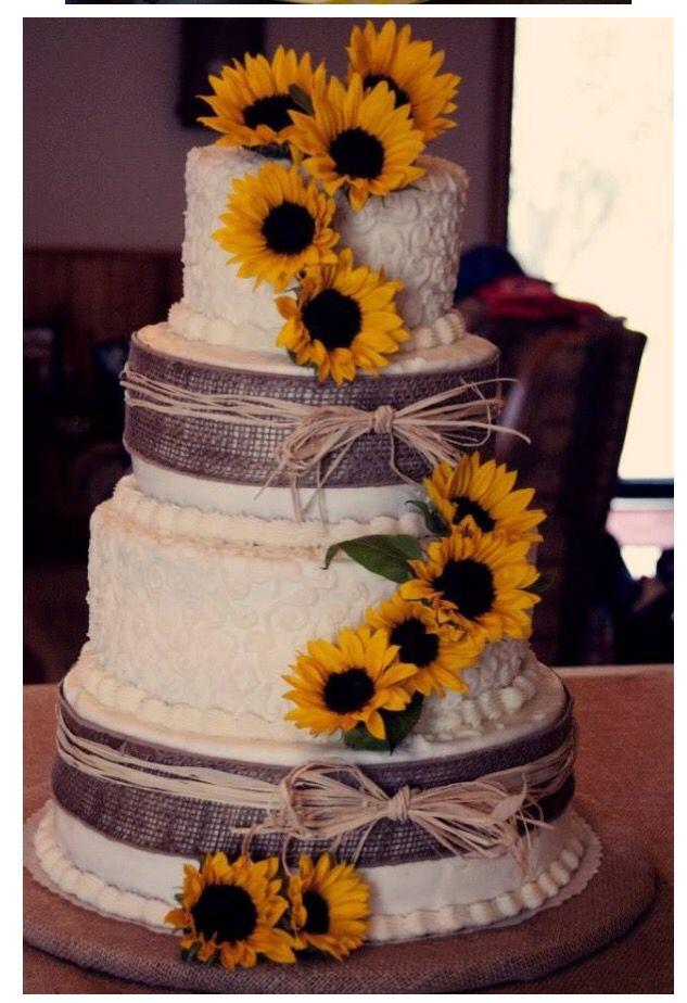 Torte Matrimonio Girasoli : Girasoli sunflower wedding cool wedding cakes wedding cake