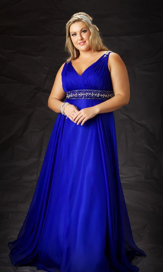 formal dresses for plus size women | Plus Size Blue Prom Dresses ...