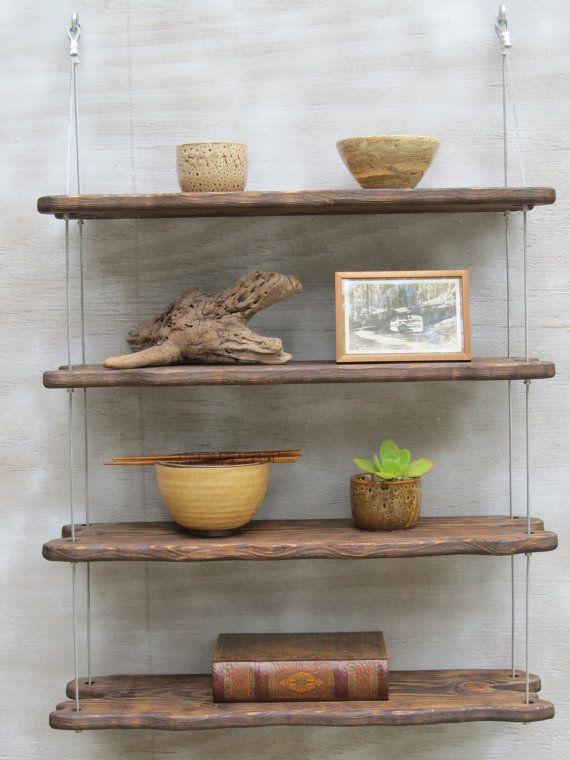 Driftwood shelves display shelving shelving system for Unique shelves diy