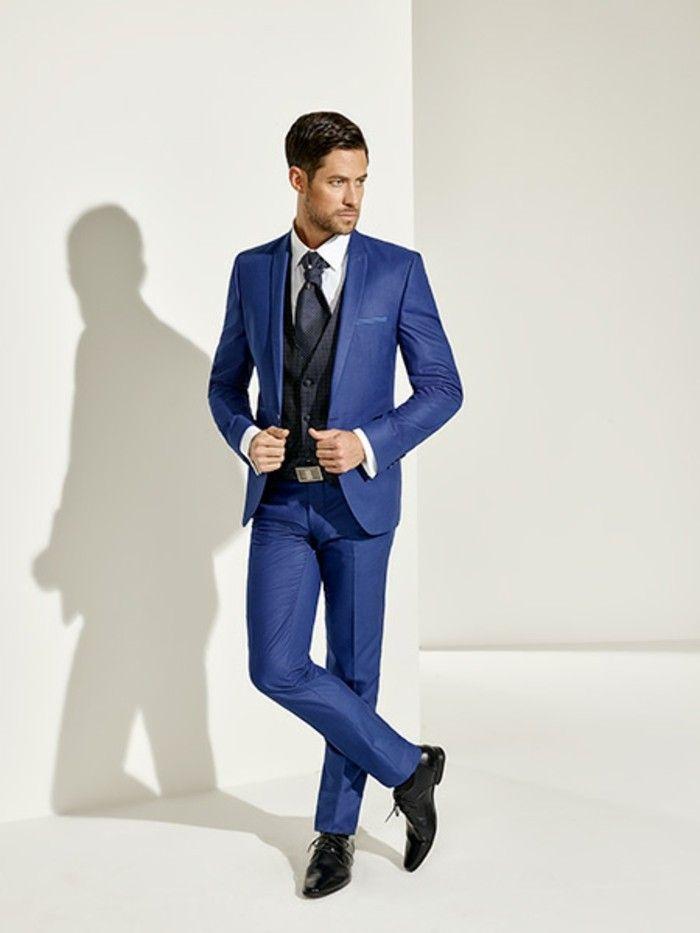 idea trendy firmata pointmariage per un abito matrimonio uomo blu elettrico 54aefad635e