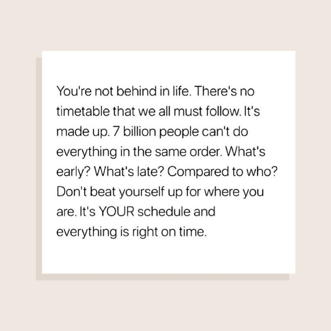 Bossbabe On Instagram Everyone Has Their Own Timeline Don T Measure Your Progress To Someone Else S Ruler Overcoming Fear Quotes Fear Quotes Words Quotes