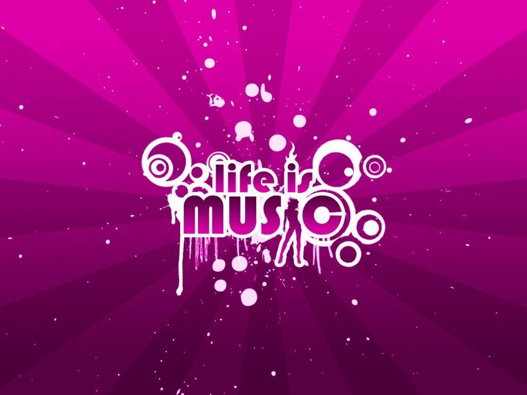 Pink Music Wallpapers Wallpaper Cave Музыкальные обои