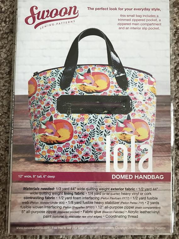 Lola Domed Handbag - Swoon Sewing Patterns