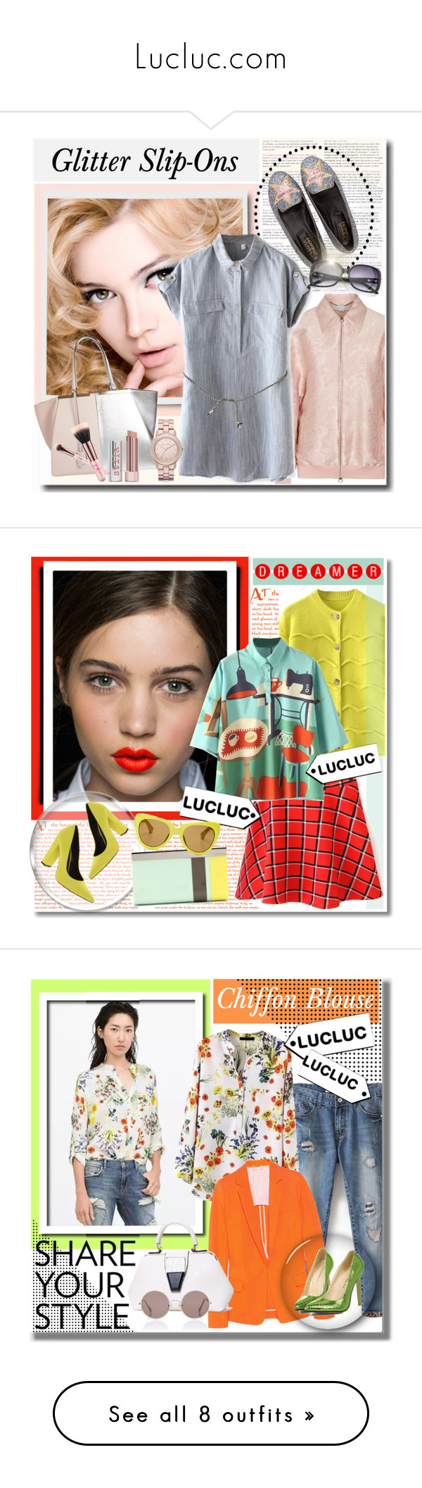"""""""Lucluc.com"""" by yuliawatievi ❤ liked on Polyvore featuring STELLA McCARTNEY, Chiara Ferragni, Fendi, Stila, Marc by Marc Jacobs, women's clothing, women, female, woman and misses"""