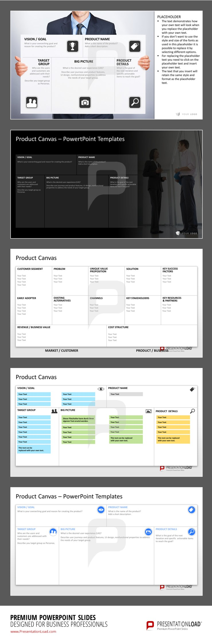 Product Canvas Powerpoint Template The Powerpoint Templates Contain
