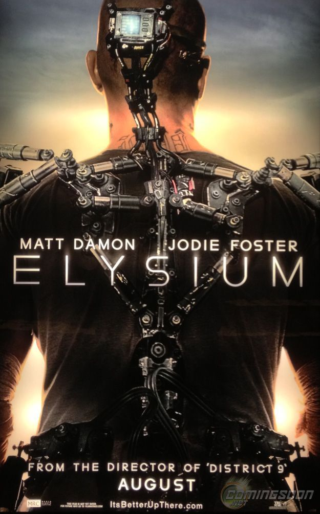 Elysium - spectacular looking. Damon is good. Don't waste any time trying to understand the plot or politics - just enjoy the visuals. Jodi Foster is awful - didn't she used to be pretty good?And her accent - she seems to be from a different country in every scene. I saw it at the $5 movie - worth it. Sharlto is so interesting - I liked him. Evil