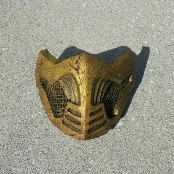 Mortal Kombat X Inspired Costume Cosplay Scorpion Themed Mask