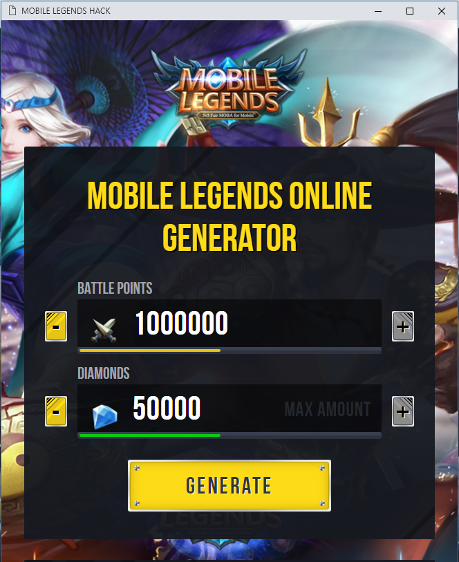 Mobile legend hack tool