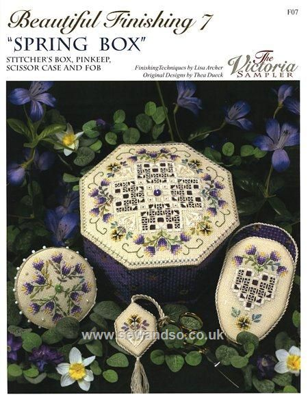 Beautiful Finishing 7 - 'Spring Box' Chart Leaflet