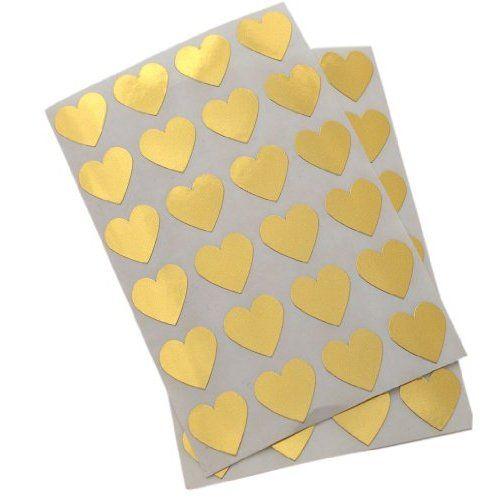 heart stickers.