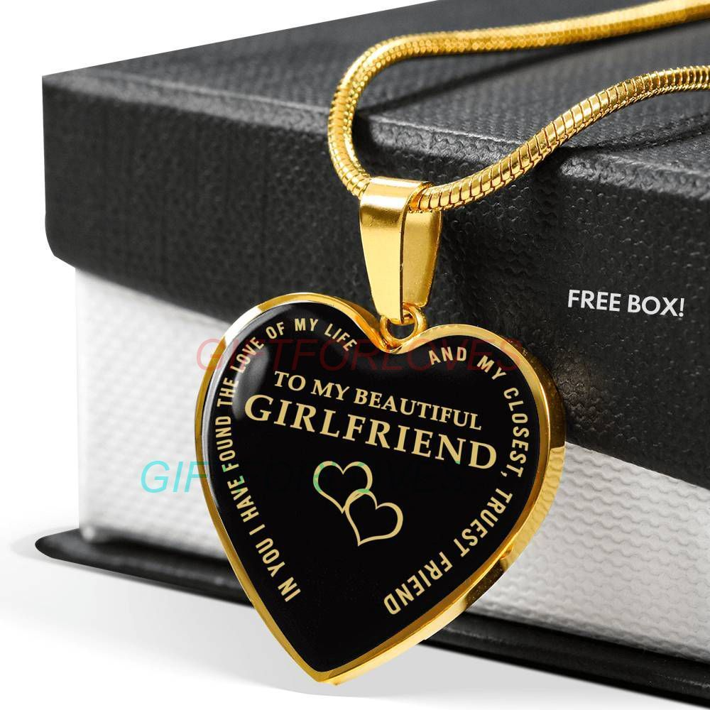 To My Girlfriend Necklace Gift Birthday from Boyfriend Fiance Anniversary Gift Idea 1325fHhn#1325fhhn #anniversary #birthday #boyfriend #fiance #gift #girlfriend #idea #necklace