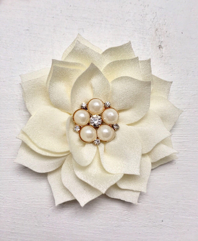 739adb09421bc Ivory flower hair clip - La Bella Rose Boutique. Flower girl hair