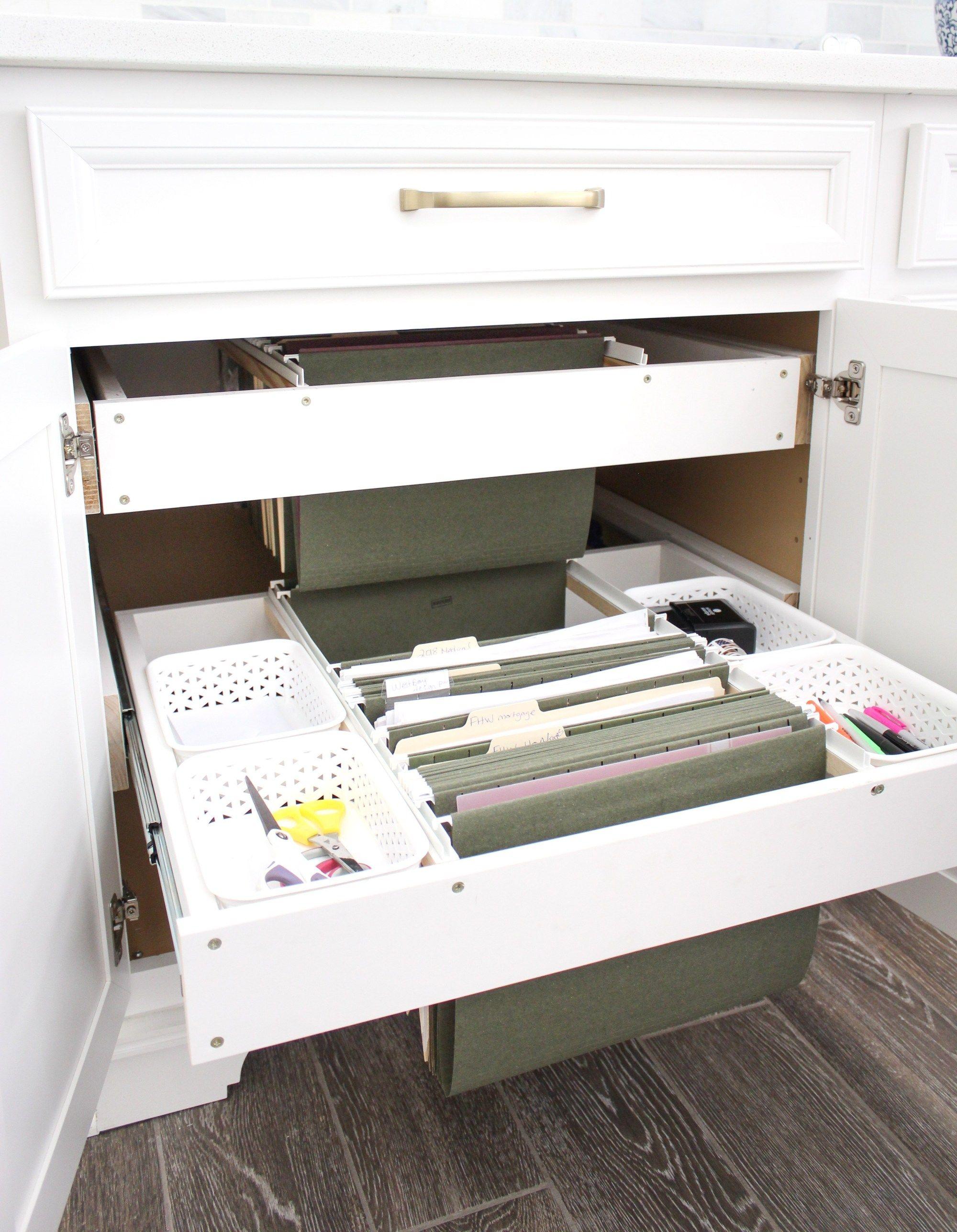 DIY Hanging File Drawer in Kitchen Frills and