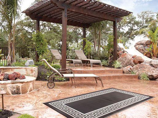 Fab Habitat Athens Indoor Outdoor Rug Backyard Concrete Patio Designs Pergola