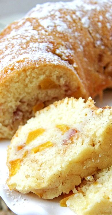 Peach Bundt Cake ~ moist, sweet and delicious