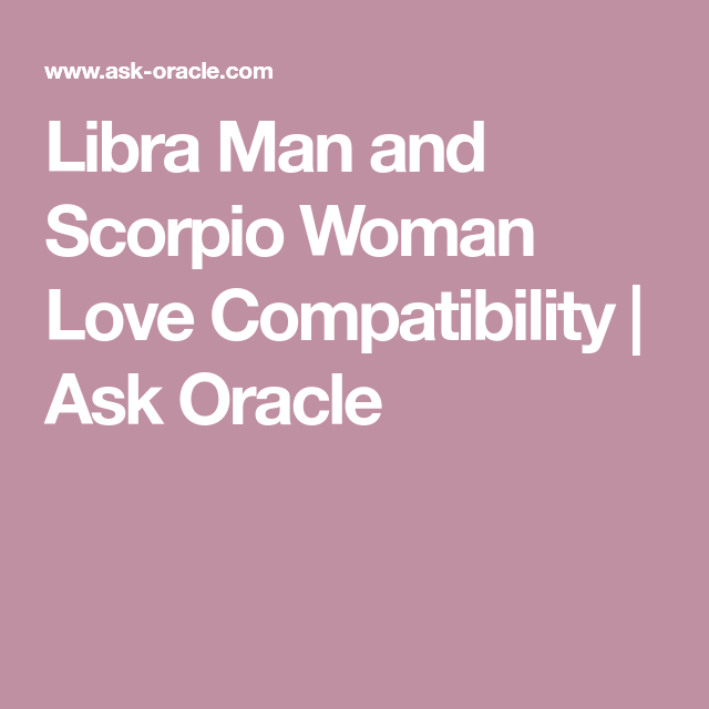 libra male and scorpio female