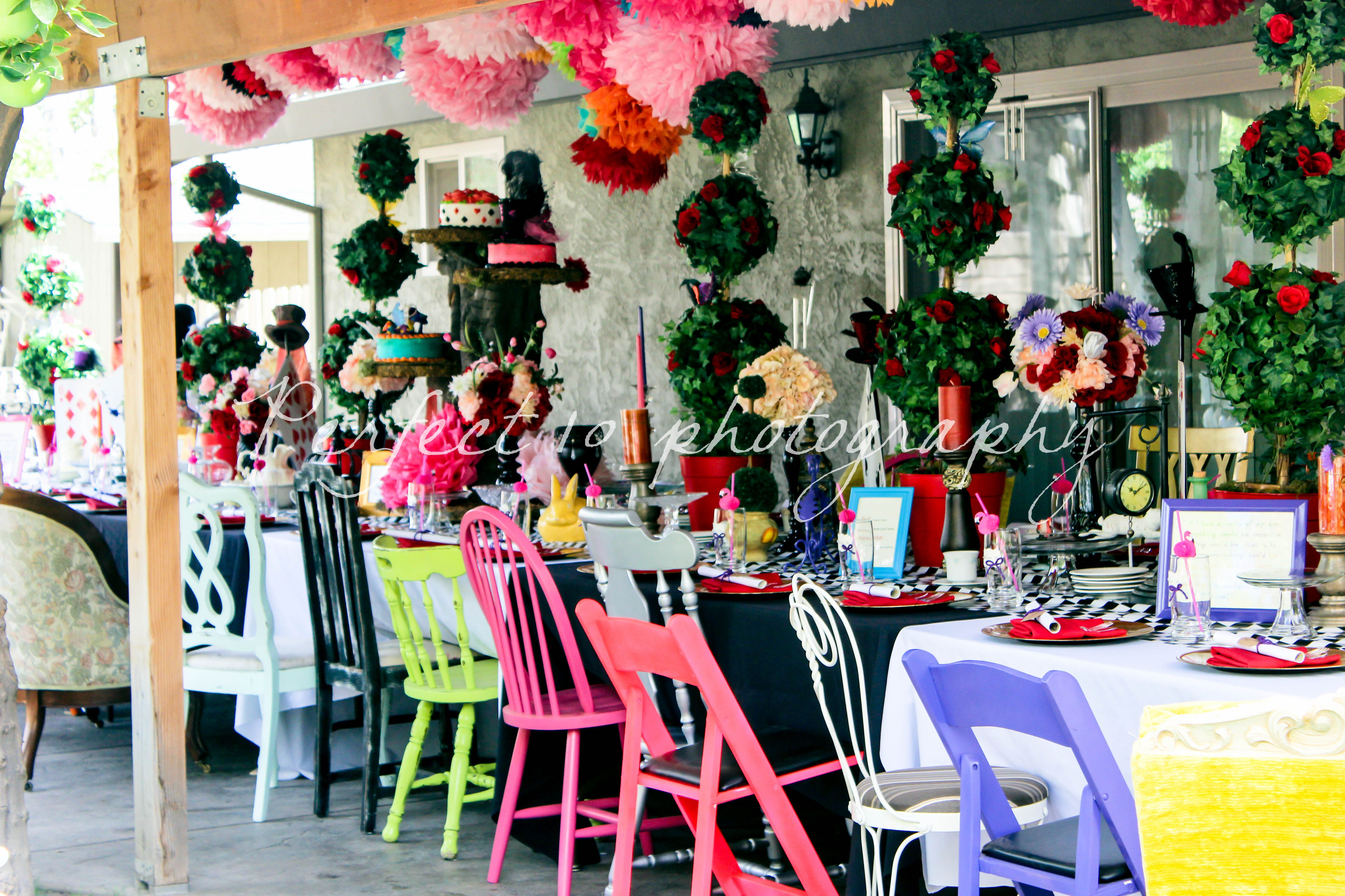 bridal shower teparty decorations%0A adult mad hatter tea party ideas  Bing images
