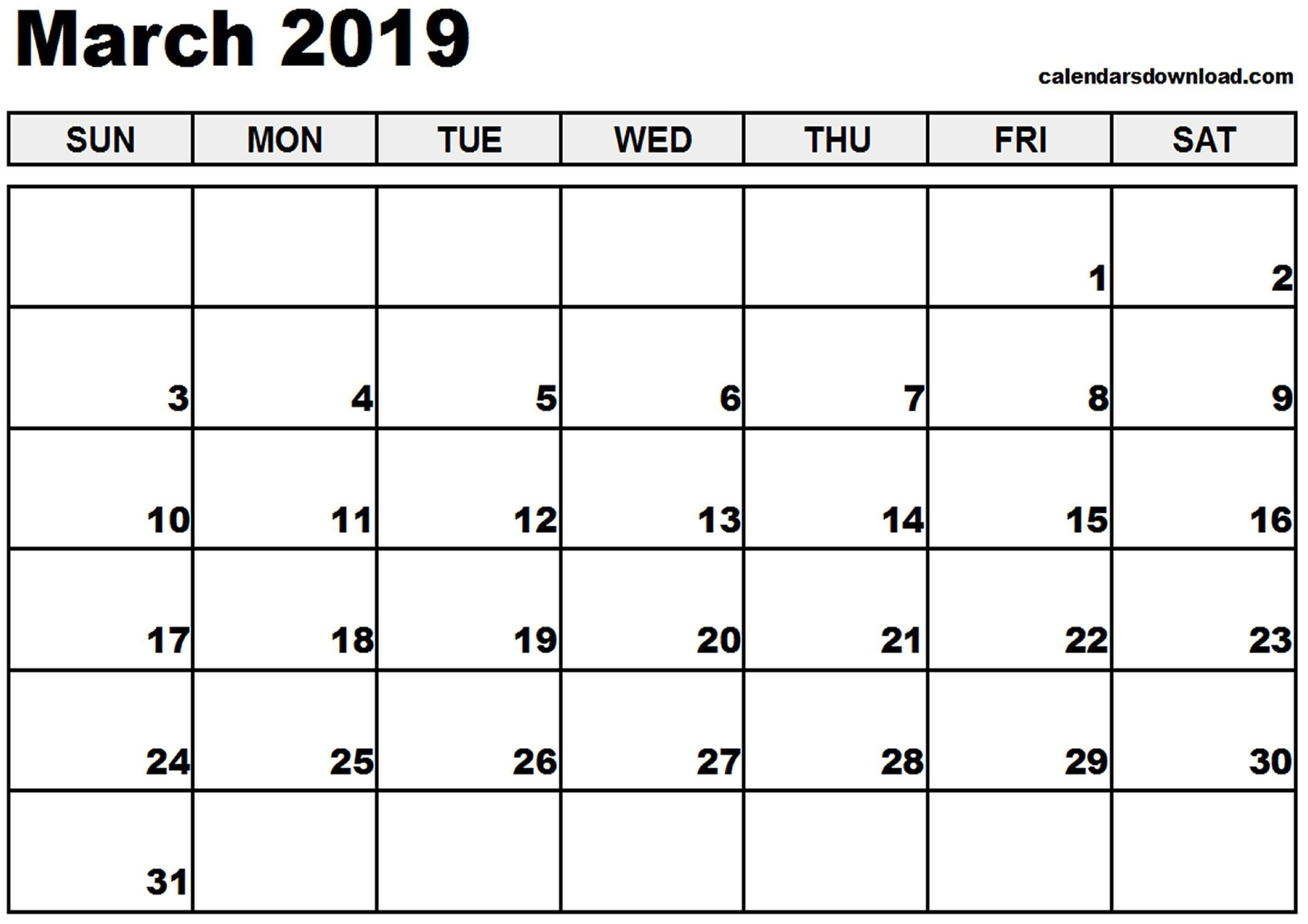 March 2019 Malaysia Calendar Calendar March