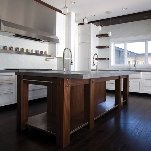 Multi-material Benchtops - Timber and Concrete Benchtop - Adelaide Outdoor Kitchen