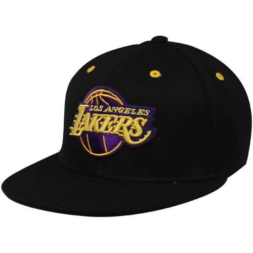 5c2c64af NBA adidas Los Angeles Lakers Premium Blackout Fitmax '70 Fitted Hat -  Black by adidas