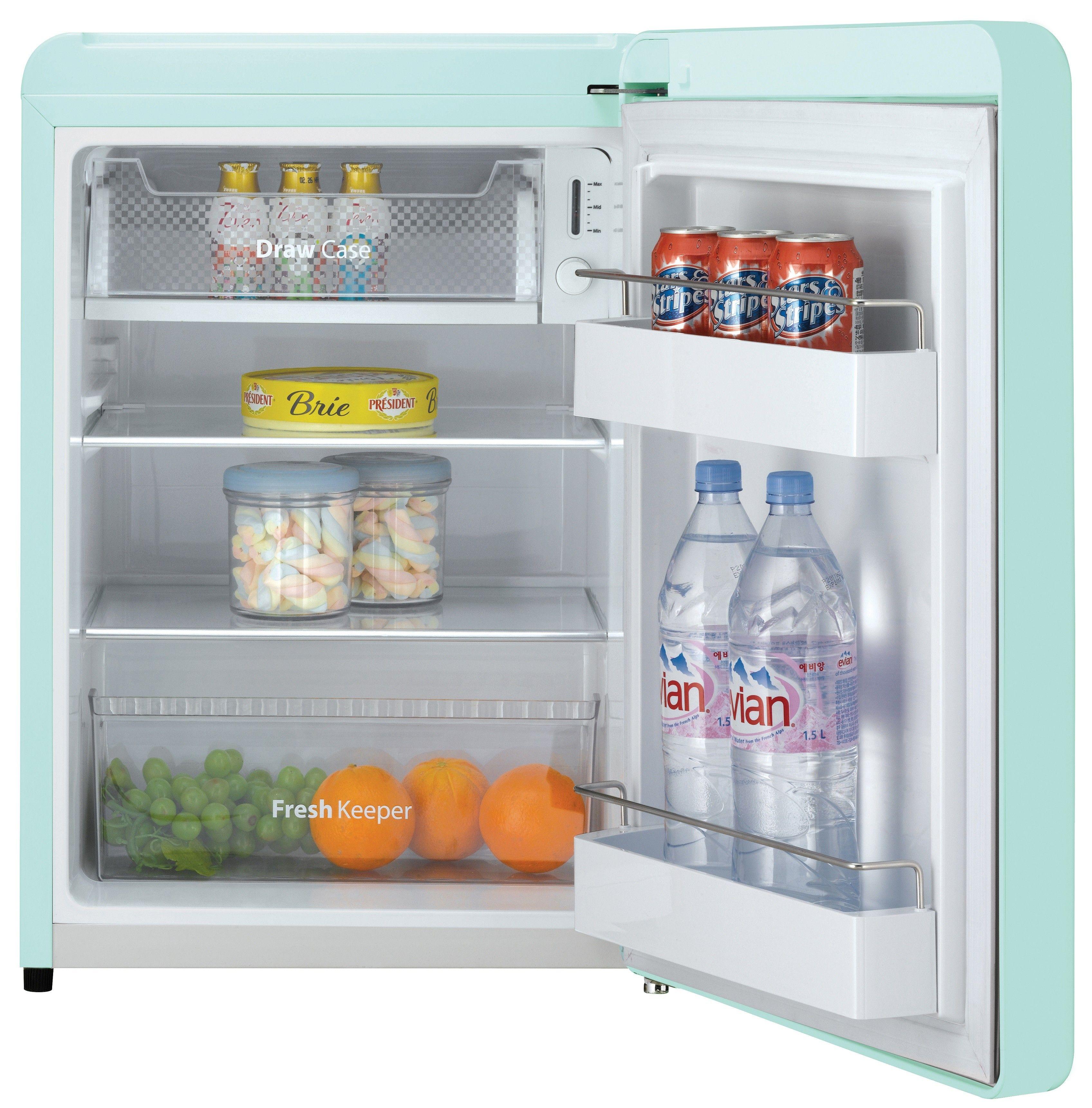 daewoo retro compact refrigerator 2 8 cu ft mint green rh pinterest com