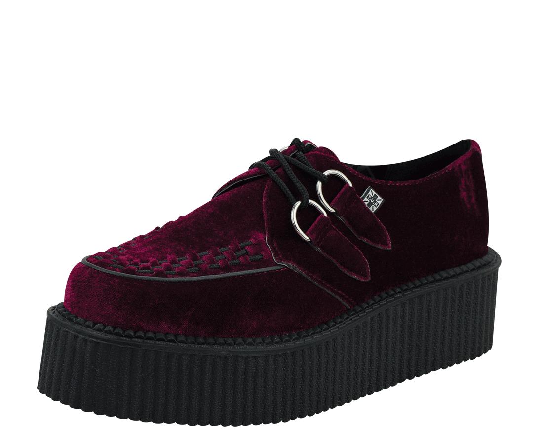Burgundy Velvet Creepers | Schuhe, Kleidung, Tragen