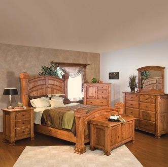 Wyndham Amish Bedroom Furniture Set Rustic Bedroom Furniture