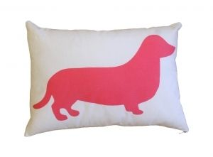 Maxmilliam medium cushion pastel pink and white