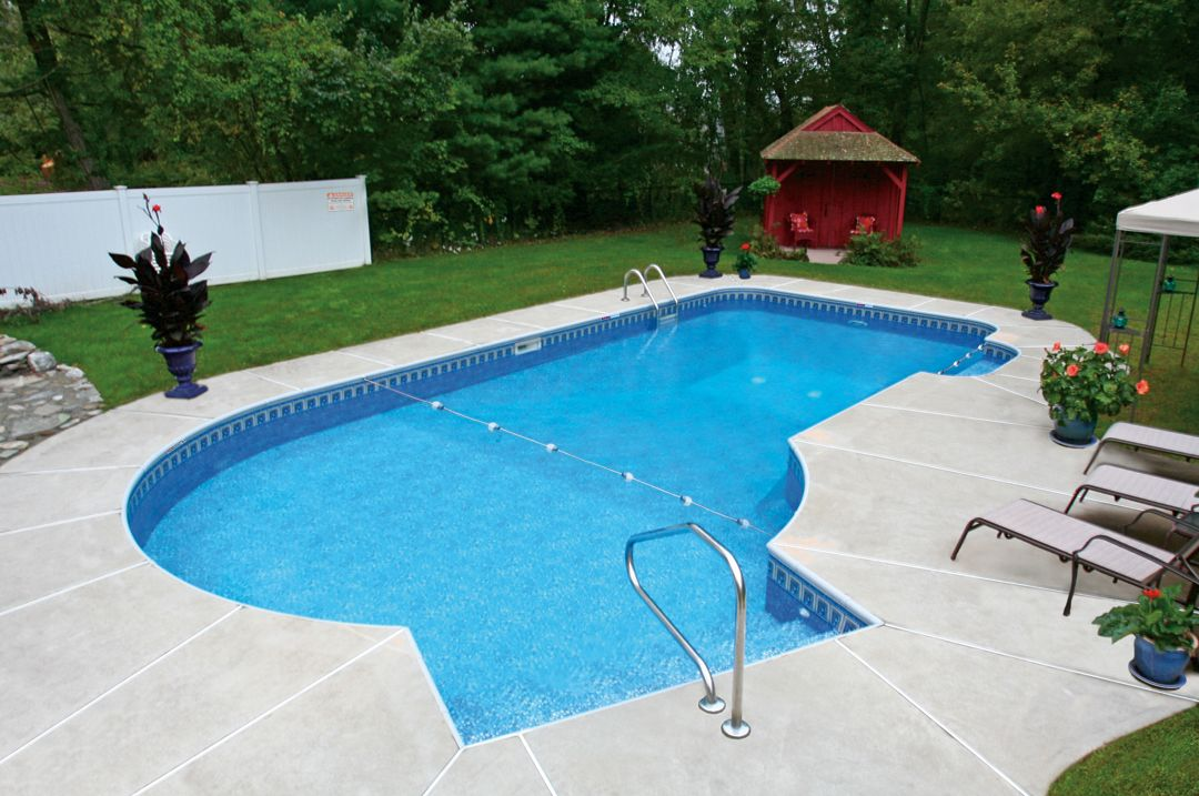 keyhole pool and landscape ideas in ground pool kits in ground rh pinterest com