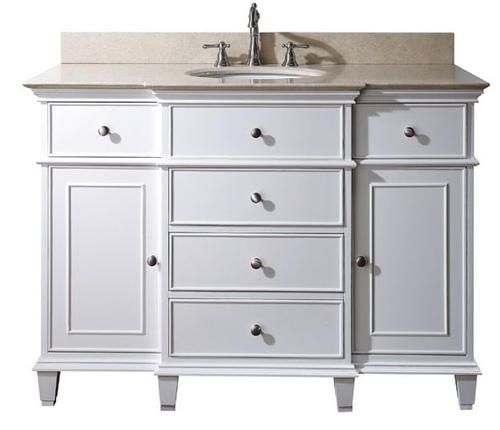 varied depth white bathroom vanity w sand marble top home white rh pinterest com