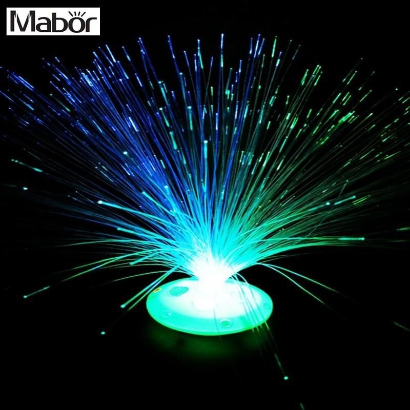 Mabor Changement De Couleur Led Fiber Optique Night Light Lamp
