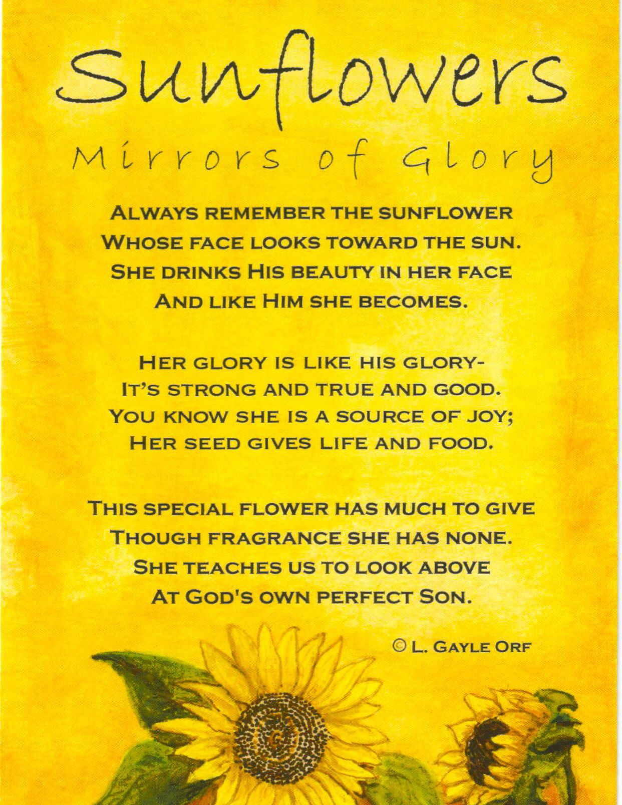 Sunflowers: Mirrors of Glory | wordstoliveby | Pinterest | Meine ...