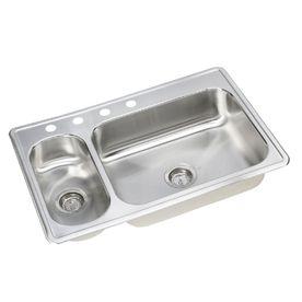 shop elkay dayton double basin topmount stainless steel kitchen sink rh pinterest ca