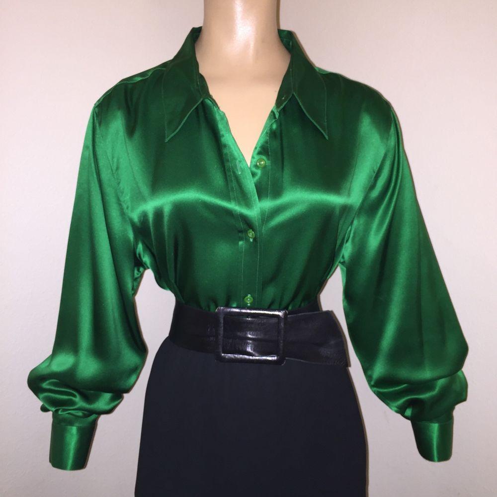 fdb1f2bfa63 Shiny Green Blouse