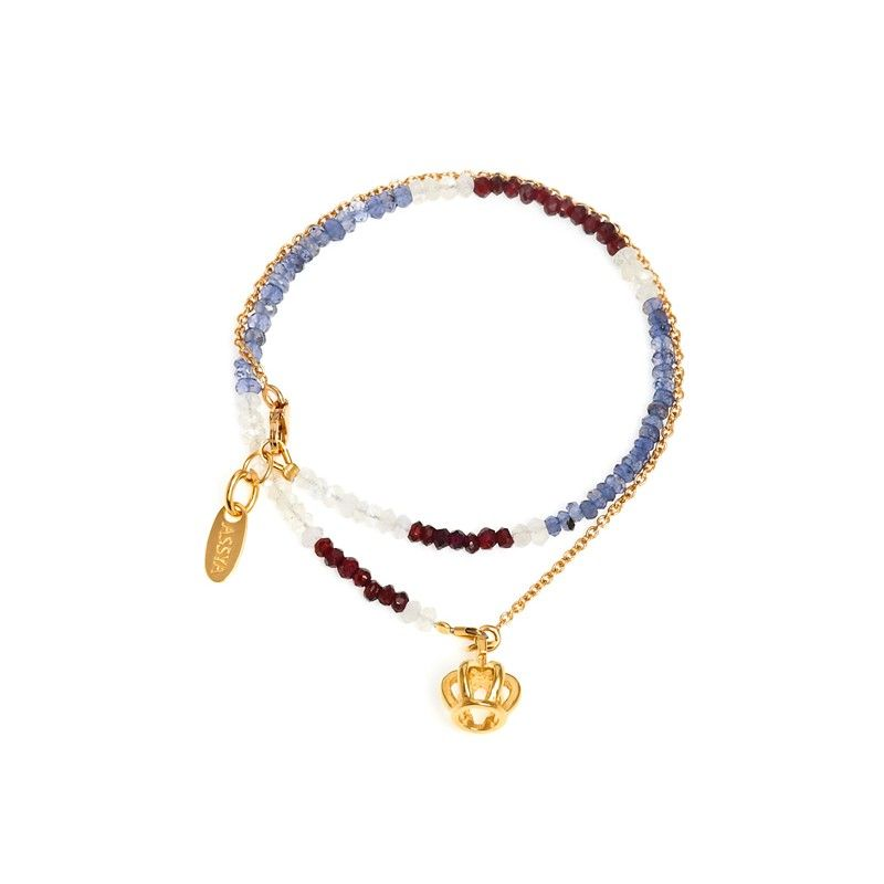 Assya London The Brit Charm Wrap Bracelet