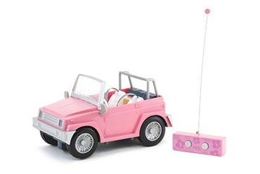 Your Moxie Girlz™ can travel in style to the beach in this cool RC jeep.