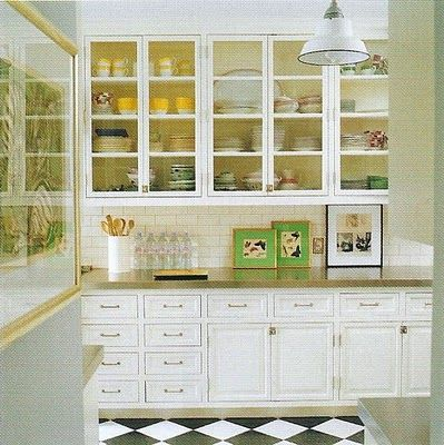 Kate and Andy Spade. the perfect kitchen cabinets, top and bottom ...