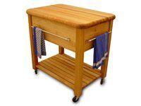 Catskill Craftsmen The Grand Work Center Kitchen Cart