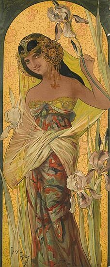 Paintings are by Mary Golay, an artist whose art nouveau ...