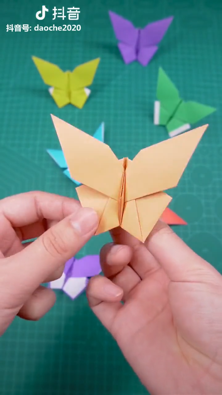 Very simple butterfly origami tutorial. Come try it too! Made with love by Douyin@daoche2020