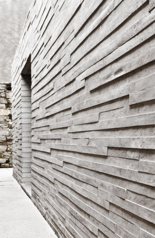 concrete structured wall