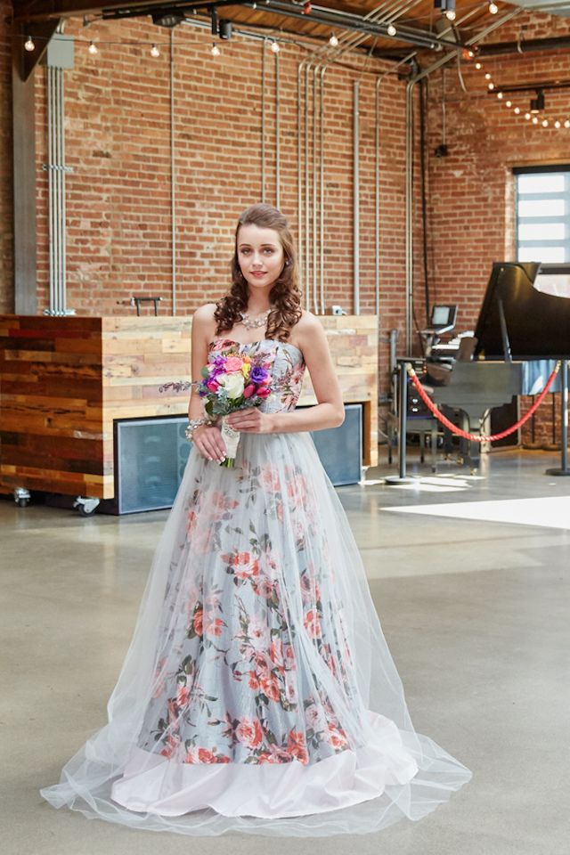 Long Floral Wedding