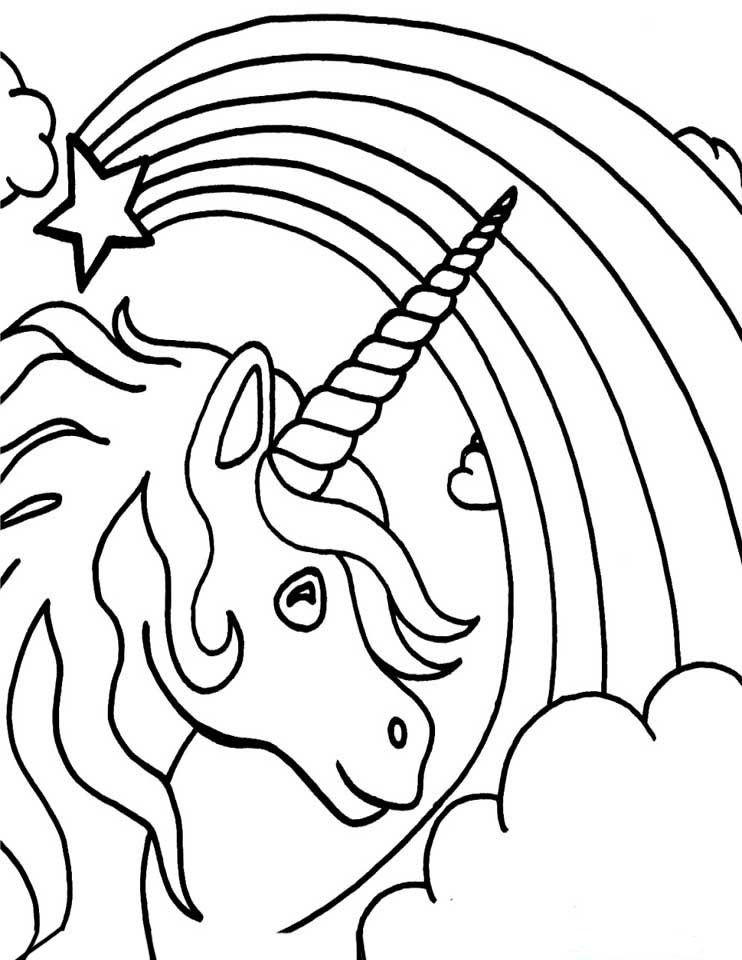 Regnbue Tegninger 4 Maleboger For Voksne Maleboger Enhjorning Tegning